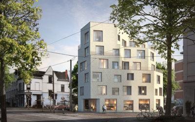 """Neubau Gewerbe- und Wohngebäude """"Hulsbergspitze"""""""