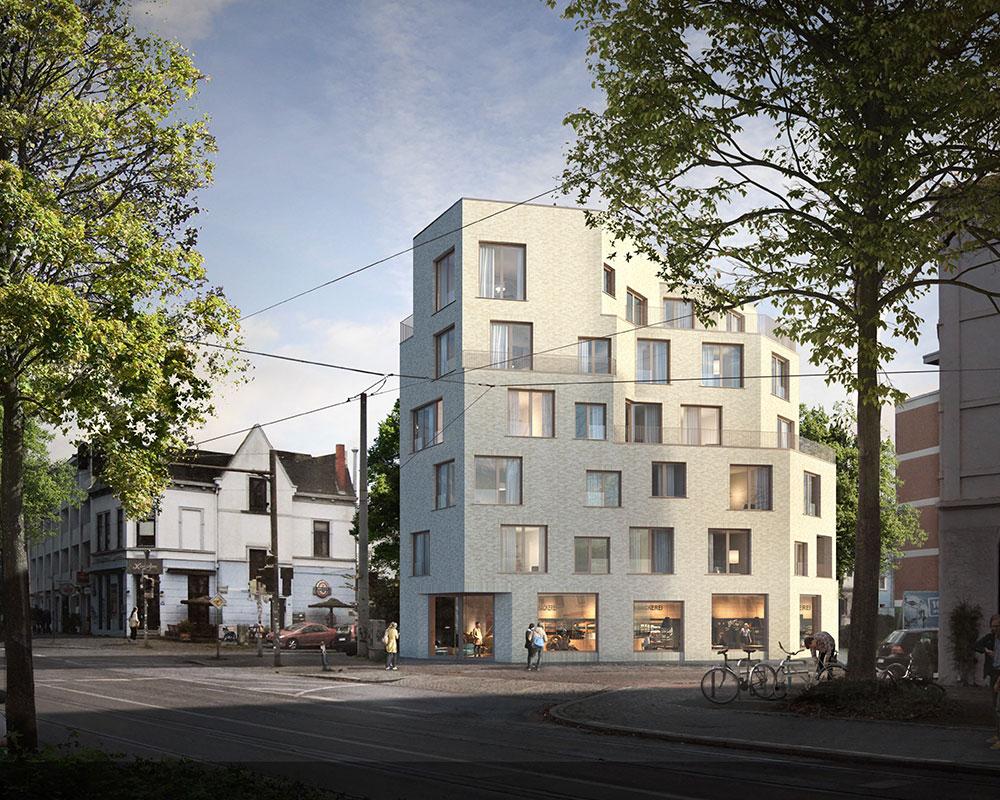 """Neubau Gewerbe- und Wohngebäude """"Hulsbergspitze"""" (Östliche Vorstadt)"""