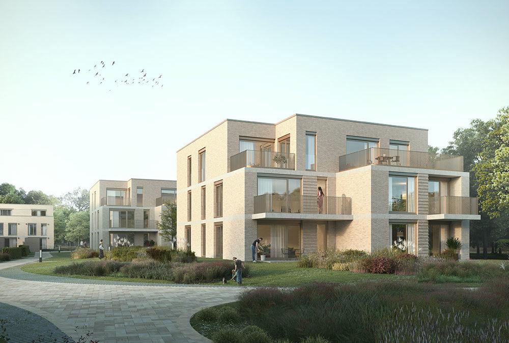 Neubau von vier Mehrfamilienhäusern mit Tiefgarage in der Billungstraße in Bremen