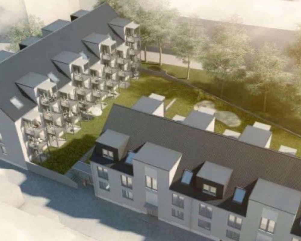 Neubau von 2 Mehrfamilienhäuserm mit Tiefgarage